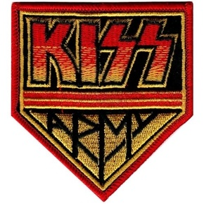 Official sew or iron on Kiss Army badge logo patch.
