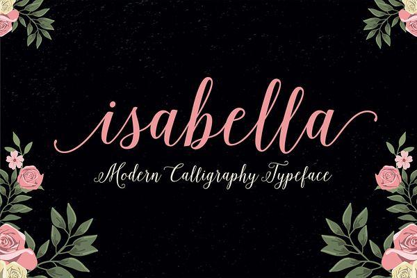 Isabella Script (40% Off) - Script - 1