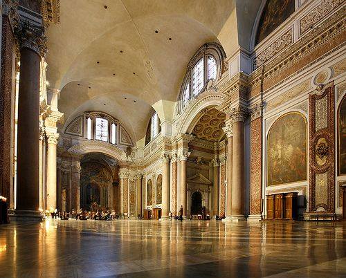 Baths of Diocletian, Rome. From 306-537, they were the largest of the imperial baths. Part of the ancient complex is now a basilica. [photo: !STORAX]