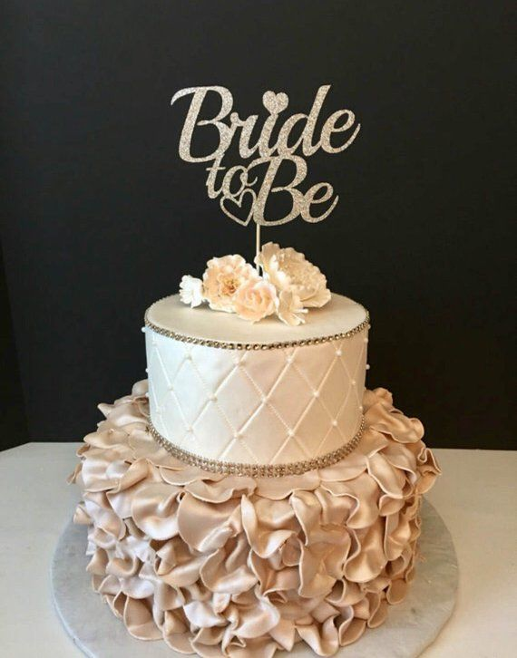 Bride To Be Cake Topper Engagement Party Cake Topper Bridal