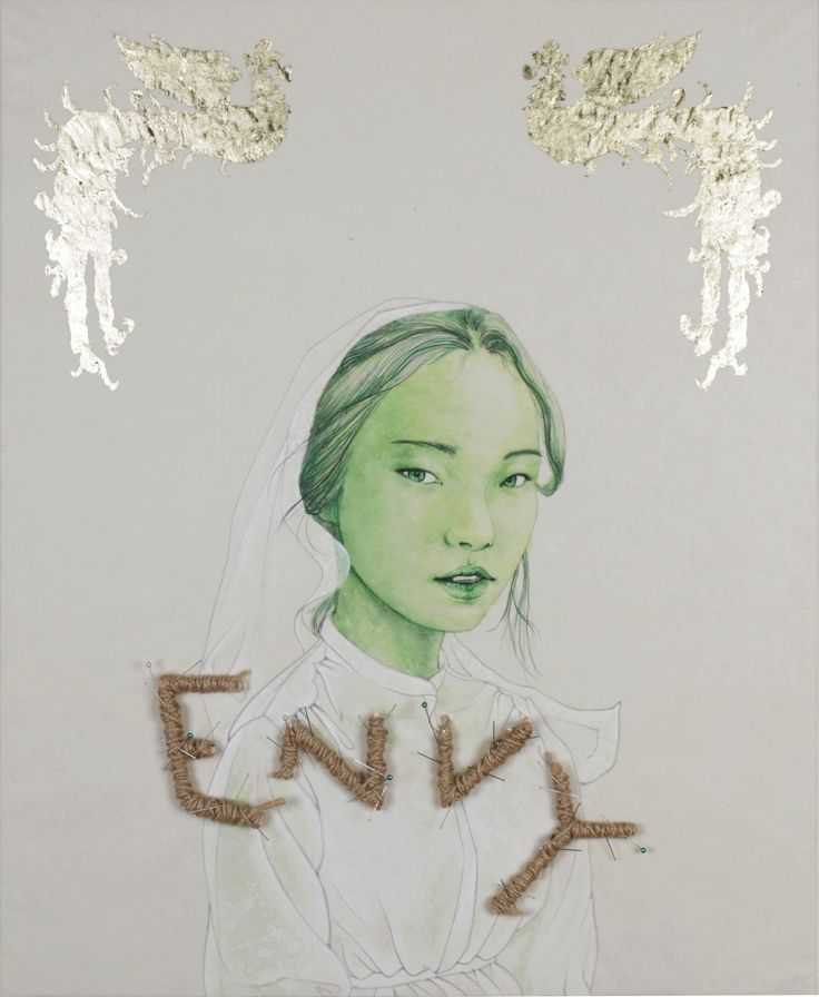 The Seven deadly sins series - Envymixed media on korean paper2015, 65.1ⅹ53 It was drawn by Dahae Ji. g.daz
