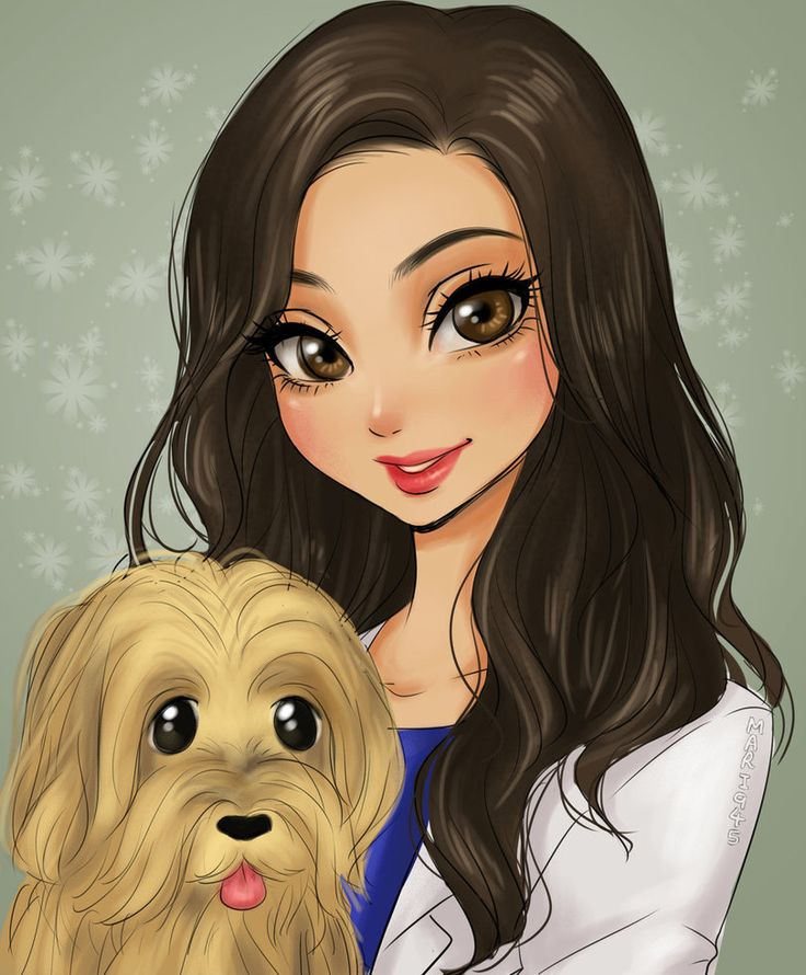 Girl with her doggy by Mari945