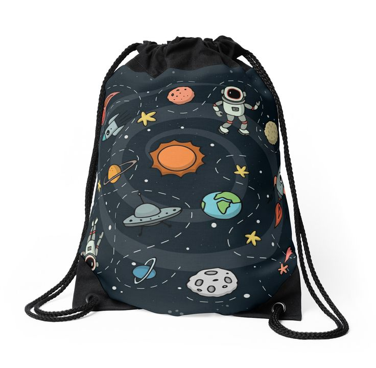 Outer Space Illustration by Gordon White | Drawstring Bag Available @redbubble  --------------------------- #redbubble #sticker #drawstring #bag --------------------------- http://www.redbubble.com/people/big-bang-theory/works/22569162-outer-space-planetary-illustration?asc=u&p=drawstring-bag&rel=carousel