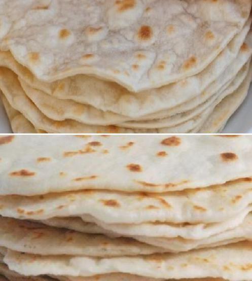 Homemade Flour Tortillas | Breads, Rolls, Biscuits, Dough | Pinterest
