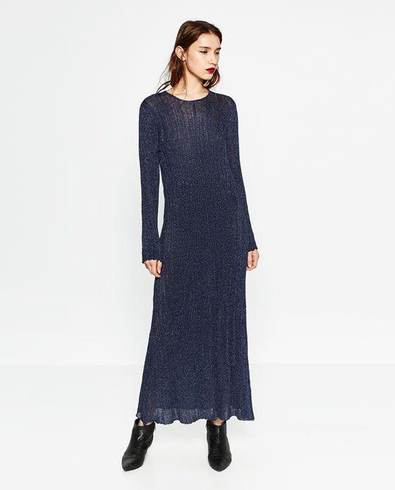 Image 1 of SHIMMER THREAD DRESS from Zara