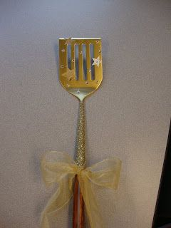 Golden Spatula to be awarded to the table group in my class with the best lunchroom noise control for the week!
