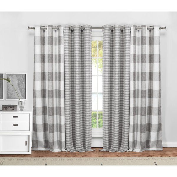 Dedric Plaid And Striped Blackout Thermal Curtain Panels Curtains Living Room Rustic Cool Curtains Farmhouse Curtains