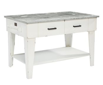 Magnolia Home by Joanna Gaines Farmhouse Kitchen Island Jo's White - * WE SHIP *
