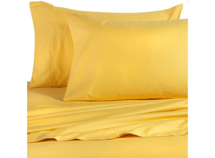 Yellow bed sheet set, BedBathandBeyond.com