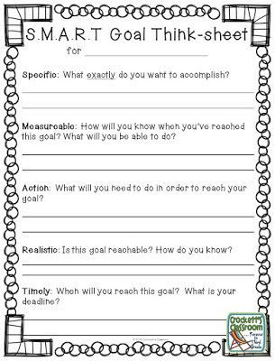 New Year Goals,  Help your students set S.M.A.R.T. goals for the new year.  Free download with thinking sheet and goals page.