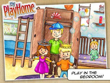 My PlayHome - underbar app där man kan träna många hemmaord, ge och ta instruktioner, träna prepositioner mm