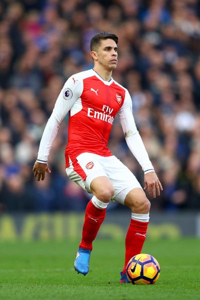 Gabriel Paulista of Arsenal in action during the Premier League match between Chelsea and Arsenal at Stamford Bridge on February 4, 2017 in London, England.