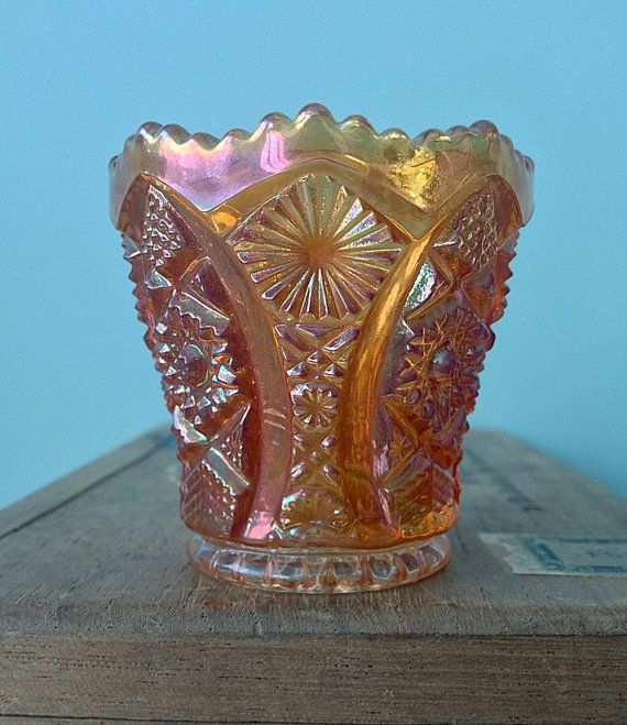 Imperial Carnival Gl Toothpick Holder In By Fawnandfiligree 18 00