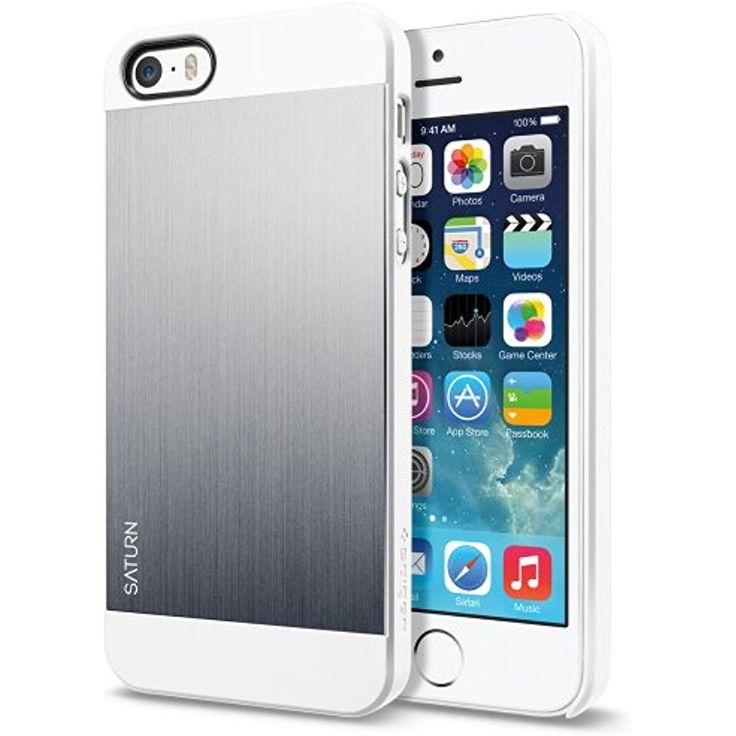 spigen saturn iphone 5s 5 case with aluminum brushed backplate protection for iphone 5s. Black Bedroom Furniture Sets. Home Design Ideas