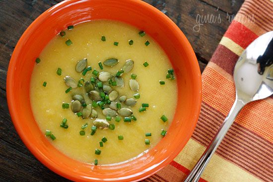 Roasted Acorn Squash and Leek Soup with Pepitas #pepitas #acornsquash #squash #soup #leek #fallRoasted Acorn, Holiday Recipe, Acorn Squashes, Vegetarian Soup, Leek Soup, Favorite Recipe, Healthy Soup Recipe, Soup Recipes, Vegan Soup