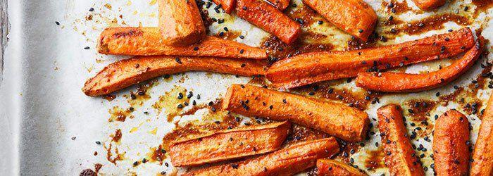 Pieczona marchewka z masłem orzechowym | Blog | Kwestia Smaku