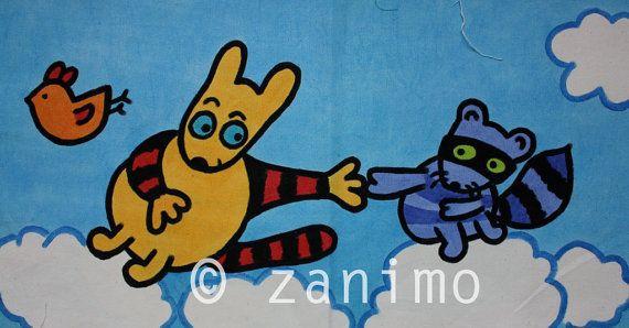 Maki and Kiwi doing a Michelangelo blue sky birds and by Zanimo, $20.00