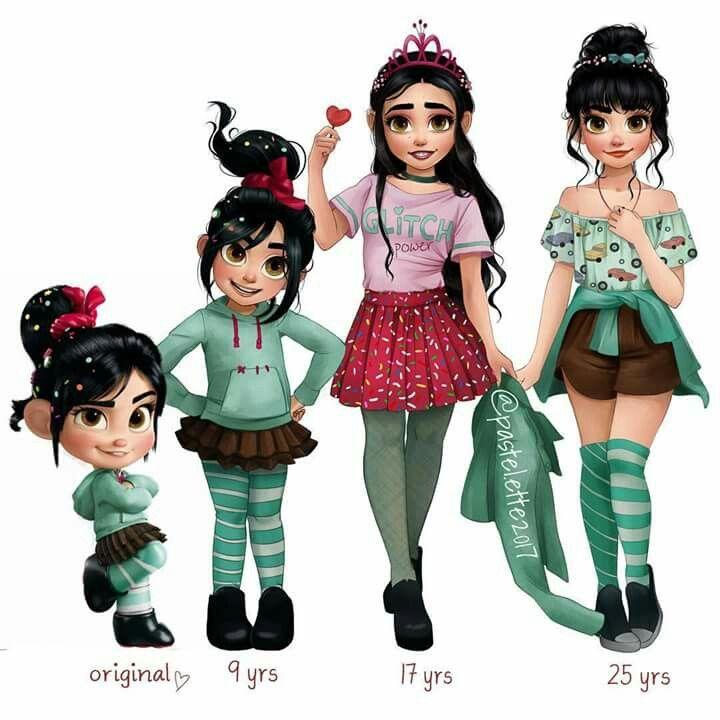 Vanellope Time Skip ⏰... Best of Disney Art, By : Linnéa (@pastel.ette).