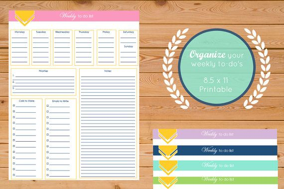 Printable Weekly To Do List Weekly Agenda by HelloInkByRandi