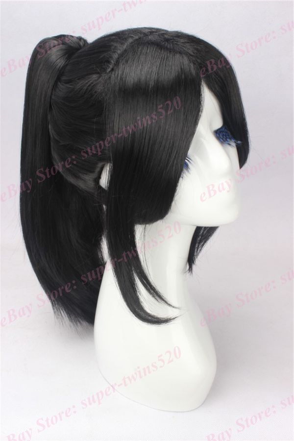 Black Hair Cosplay Wig With High Ponytail Anime Movie Wig By Yukimura Chiduru Cosplay Wigs High Ponytails Wigs