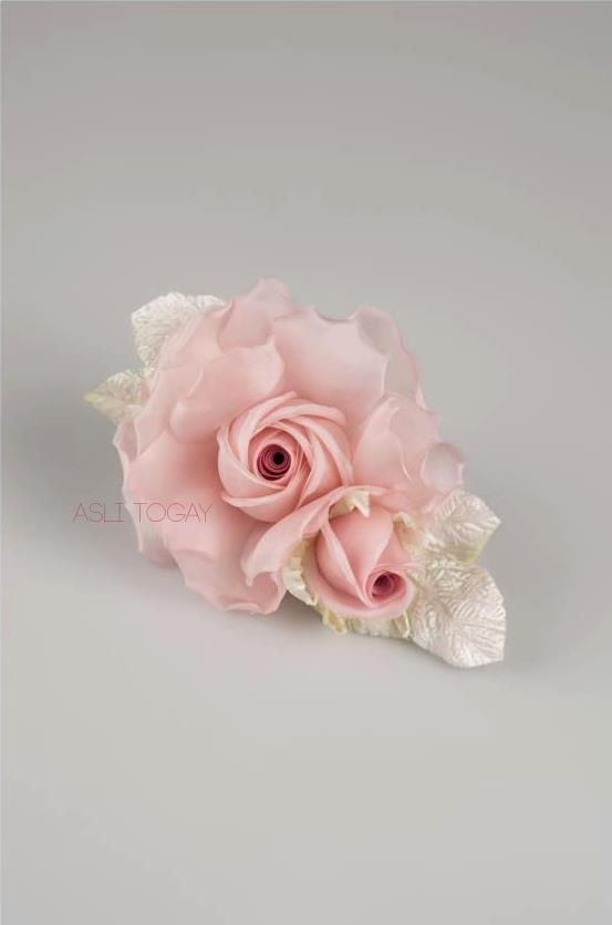 Handmade silk rose