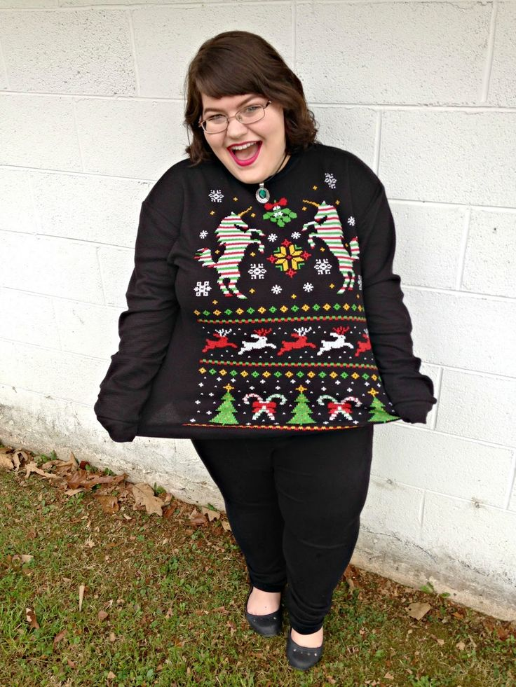 "Unique Geek: Plus Size OOTD: ""Ugly"" Christmas Sweater #plussize #plussizefashionblogger #plussizefashion #plussizeootd #plussizeoutfit #plussizestyle #christmas #uglychristmassweater:"