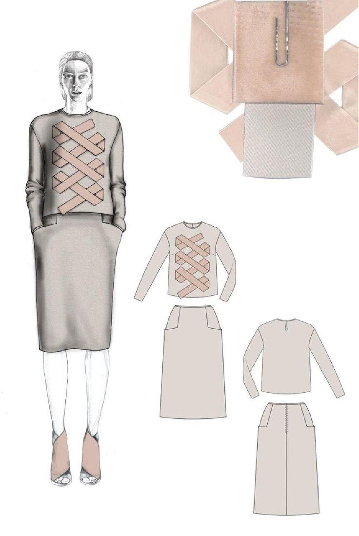 Fashion Sketchbook - fashion illustration & fabric samples; fashion student portfolio // Milena Konakchieva