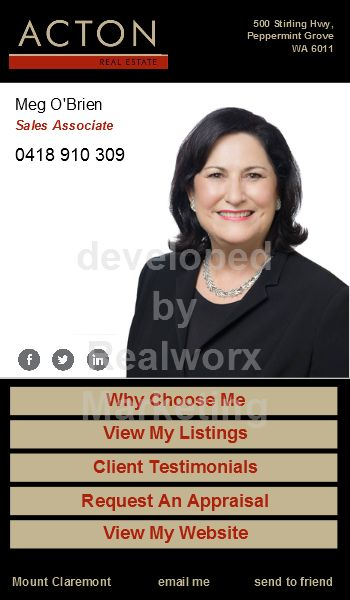 Acton Real Estate iCard by Realworx Marketing. Mobile App Design and Development Australia New Zealand USA UK