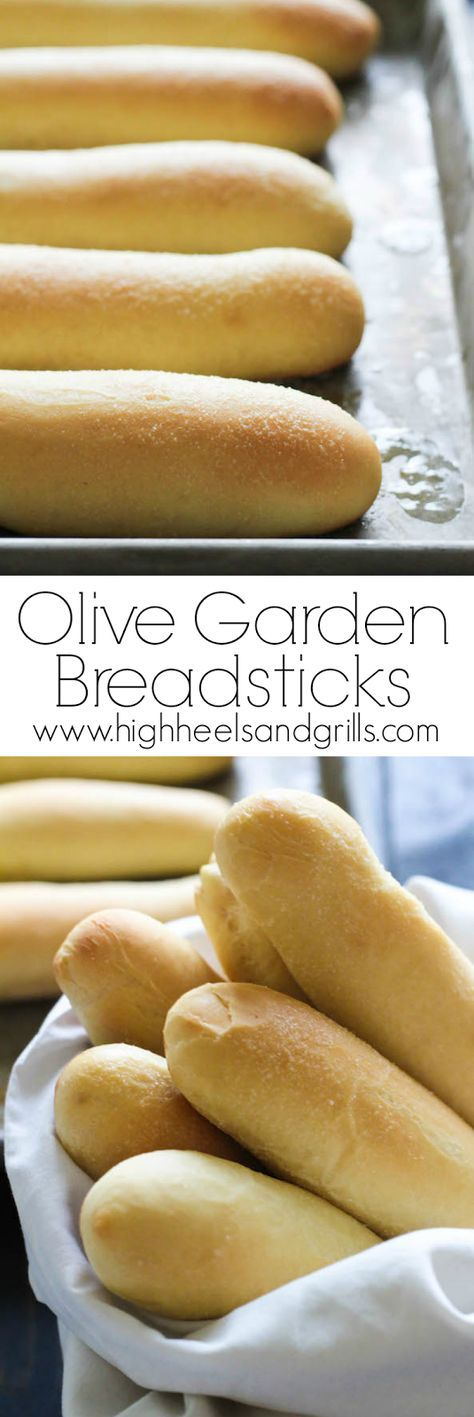 Olive Garden Breadsticks Copycat. These are light and fluffy, but crisp on the outside and have a slight hint of garlic to them. Awesome side for dinner! highheelsandgrill...