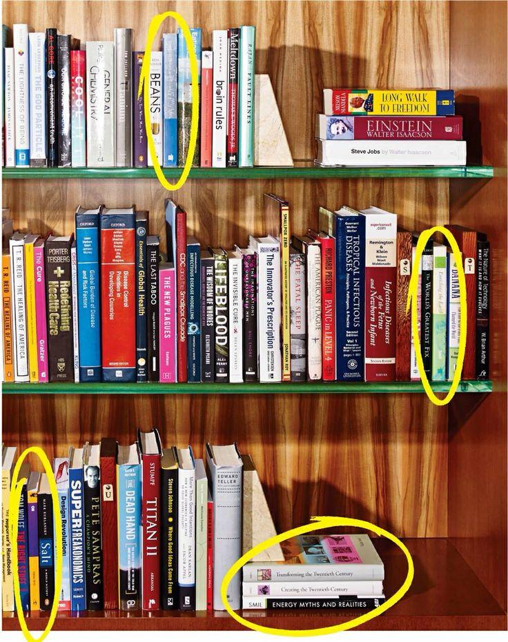 Bill Gates' book shelf.