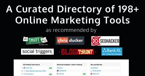 ToolSalad – A Curated Directory of 180+ Online Marketing Tools