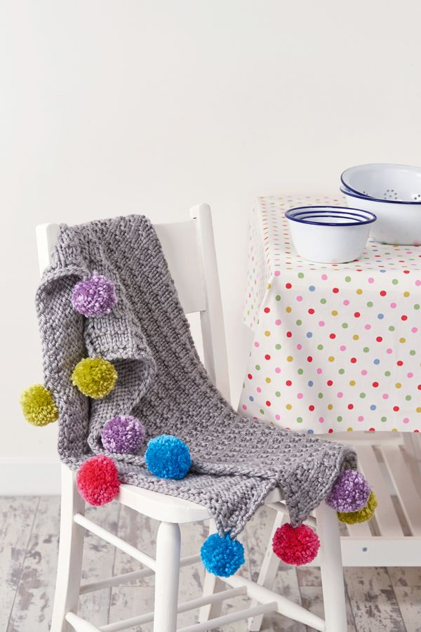 Knitting Pattern For Pom Pom Blanket : The 25+ best ideas about Pom Pom Crafts on Pinterest Pom ...