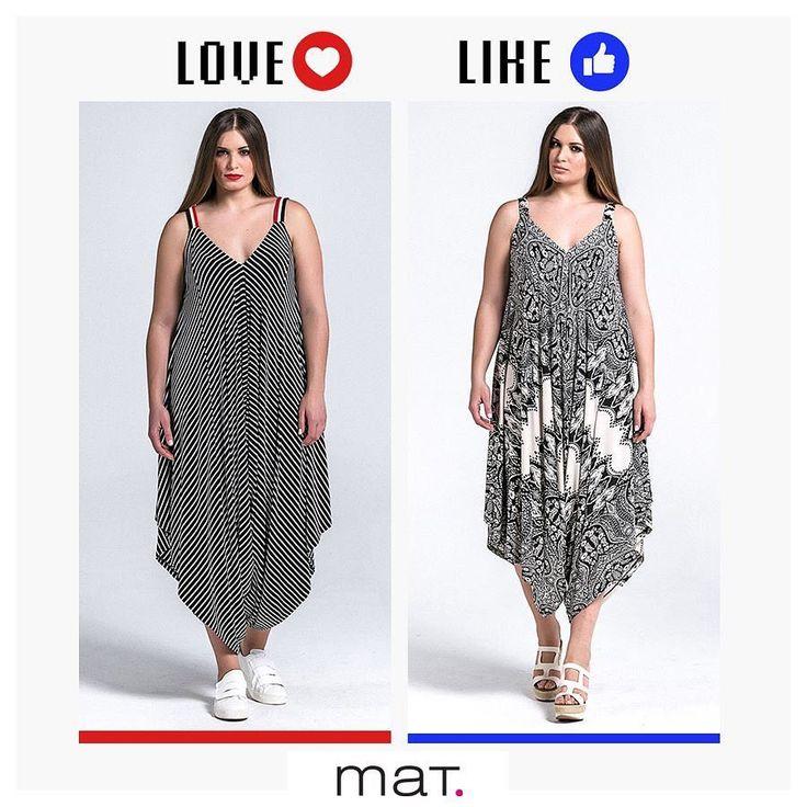 Αγαπάμε τις ολόσωμες φόρμες σε loose γραμμή γιατί μεταμορφώνουν το casual look σε μία ανανεωμένη εμφάνιση και κολακεύουν κάθε σιλουέτα! Εσένα ποιο από τα δυο prints σου αρέσει περισσότερο; Άφησε μήνυμα: ❤ Love για το ριγέ & 👍🏻Like για τα καλειδοσκοπικά μοτίβα!  Aγόρασε την με navy-chic ρίγες ➲ code: 671.7370 Aγόρασε την με καλειδοσκοπικά μοτίβα ➲ code: 671.7376 #matfashion #realsize #collection #jumpsuit #style #psblogger #instafashion #❤️or👍🏻