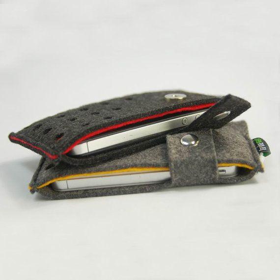 Ressenti iPhone 5 5 s 5C 4 s 4 manchon Samsung Galaxy S2 S3 S4 Note 2 Note 3 cas sac couvrir portefeuille personnalisé portefeuille pochette...