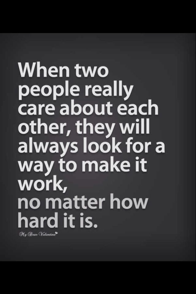 A relationship is a two way thing