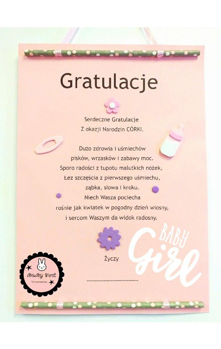 Dyplom Gratulacje Tortzpampersow Tortzpieluch Babytort Babe