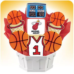 Celebrate Your Favorite NBA Team Here! NBA GIFTS...  Looking for unique basketball gift ideas? Cookies by Design offers basketball products including baskets and cookie gifts which feature the team logo and team colors of your favorite team.  #picsandpalettes #NBA #cookiesbydesign