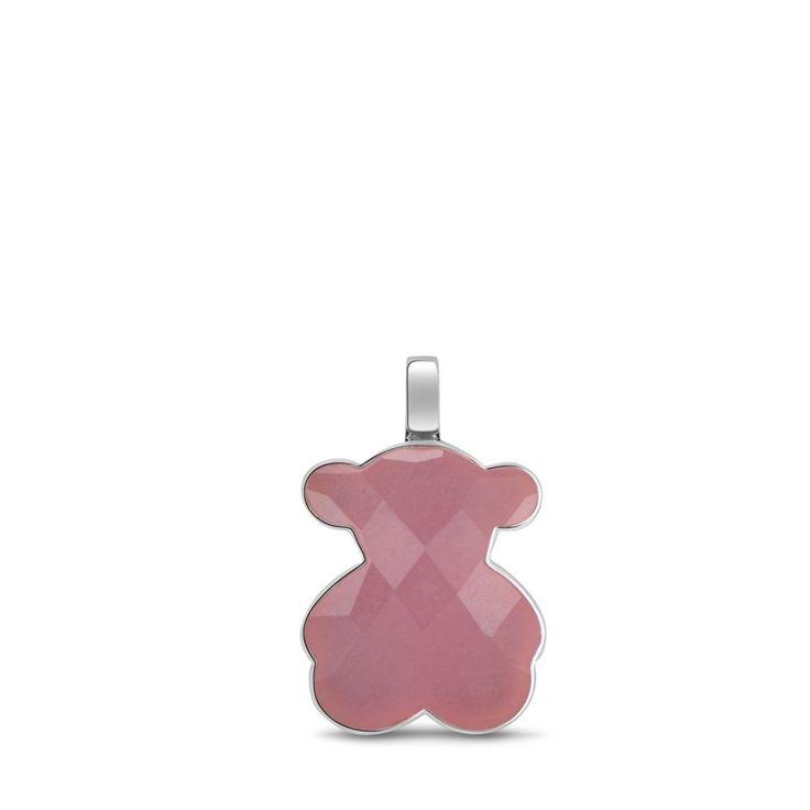 Zawieszka-miś Tous Color ze srebra i różowego kamienia