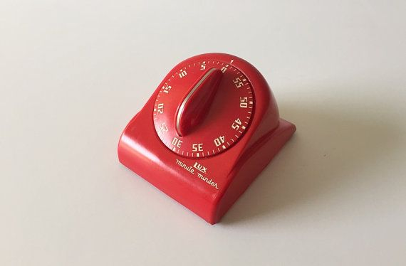My Vesties Wish List Item - Red Lux Minute Minder, Vintage Kitchen Timer