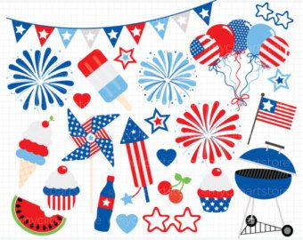 Clipart  4th of July Party / Independence Day / Star Spangled