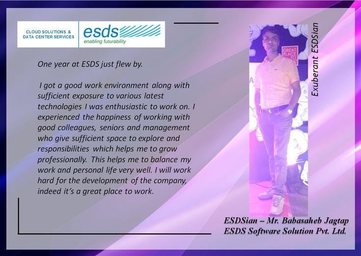 Meet Exuberant ESDSian – Babasaheb Jagtap  #Success #EmployeeSatisfaction #JobSatisfaction