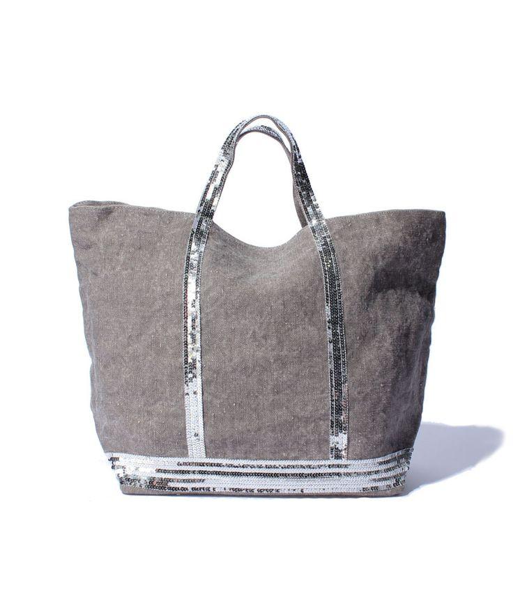 sac vanessa bruno en lin gris