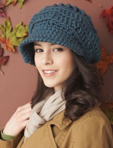Crochet Visor Peak Cap + Tutorial