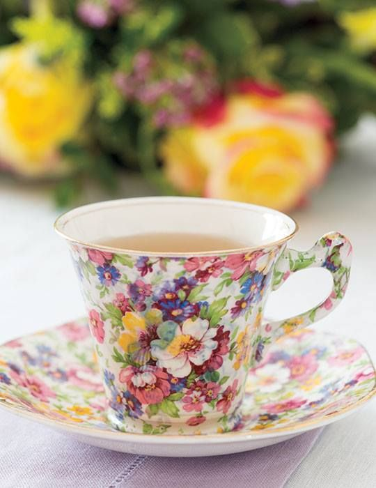 Love the chintz - don't know which maker it is