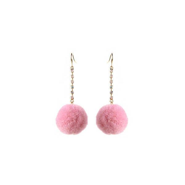 Pom Pom Earrings (2.275 RUB) ❤ liked on Polyvore featuring jewelry, earrings, amrita singh, amrita singh earrings, earring jewelry, amrita singh jewellery and amrita singh jewelry