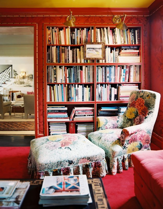 Adore the Chair!Libraries, Book Nooks, Bookcas, Reading Corner, Reading Chairs, Reading Nooks, Ruthie Sommer, Room, Lonny Magazine
