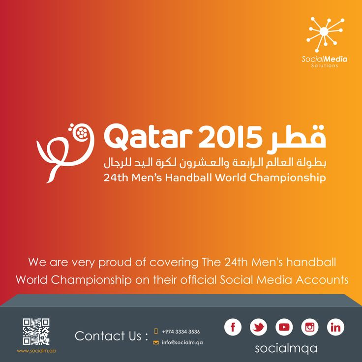 We are very proud of covering The 24th Men's handball World Championship on their official Social Media Accounts