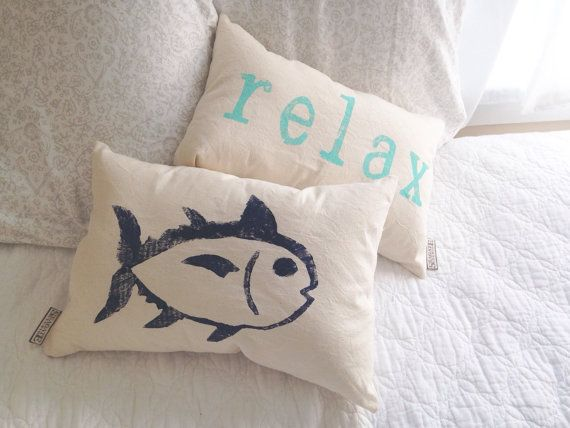Under the Sea Fish Pillow - fishing decor, under the sea nursery, boys room decor, fishing baby, hunting baby, lakehouse decor  These friendly,