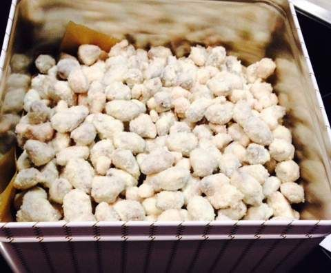 Rezept Gebrannte Mandeln mit weißer Schokolade und Kokos von Corinna1210 - Rezept der Kategorie Backen süß