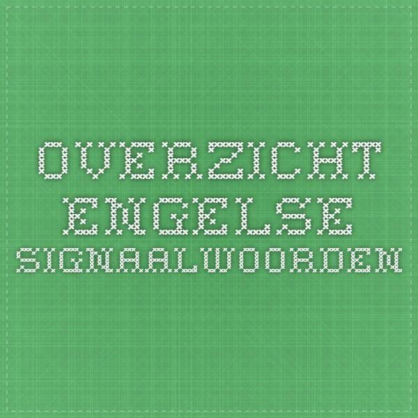 Overzicht Engelse signaalwoorden